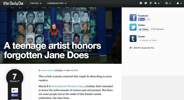 http://www.dailydot.com/lifestyle/jane-doe-art-project/